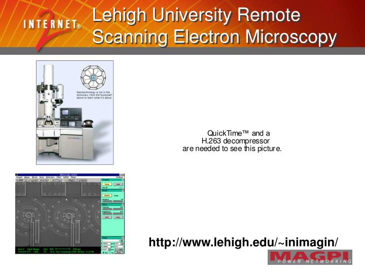 Lehigh University Remote Scanning Electron Microscopy