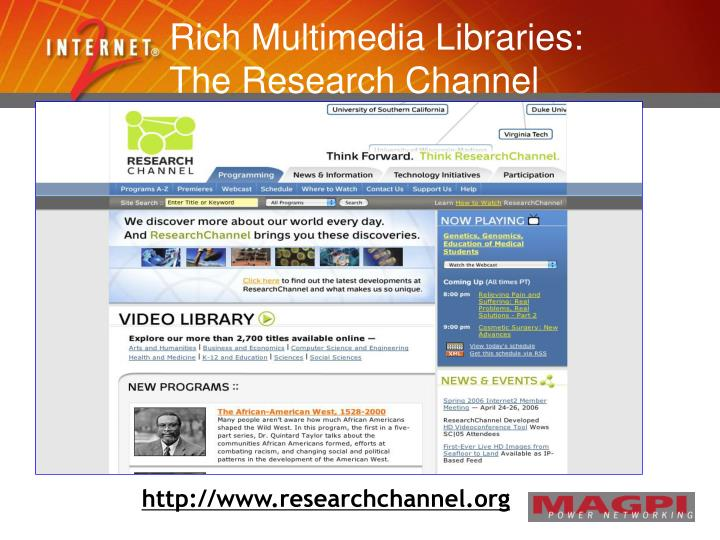 Rich Multimedia Libraries: