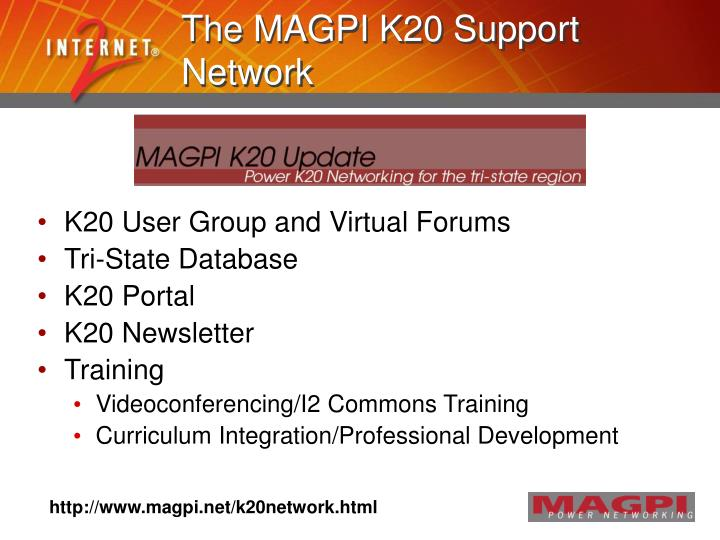 The MAGPI K20 Support Network