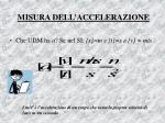 misura dell accelerazione
