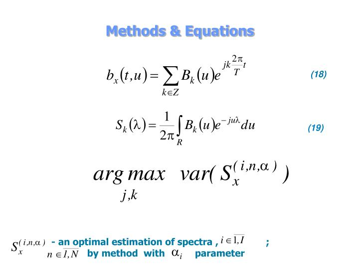 Methods & Equations
