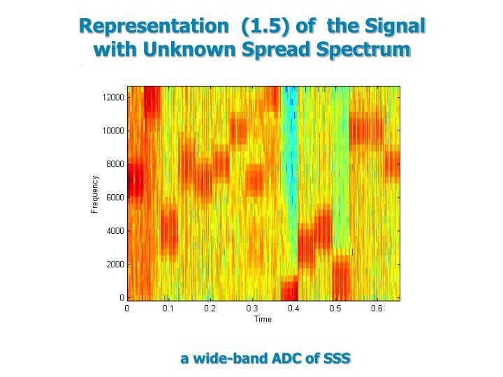 Representation  (1.5) of  the Signal