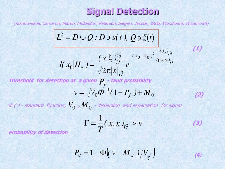Threshold  for detection at  a given       -