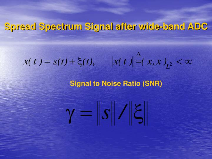 Spread Spectrum Signal after wide-band ADC