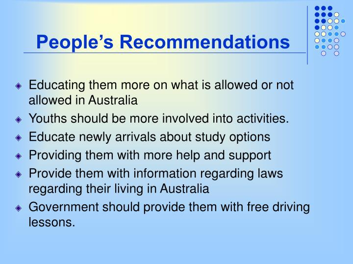 People's Recommendations