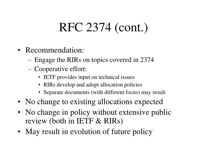 RFC 2374 (cont.)