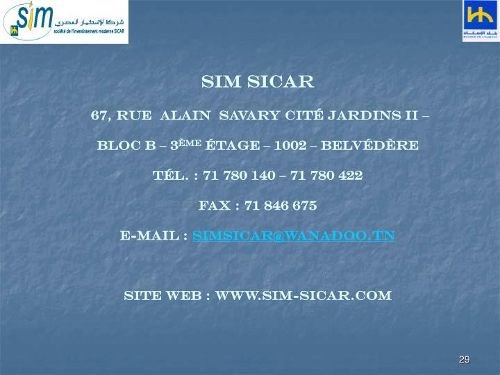 SIM SICAR