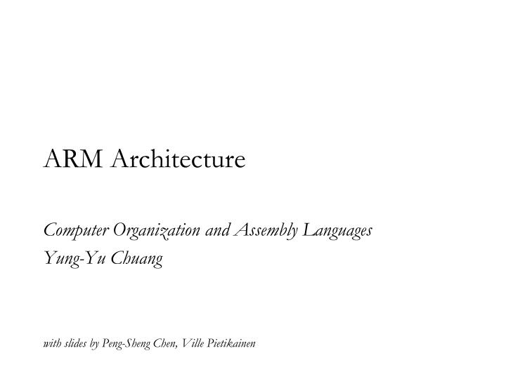 arm architecture n.