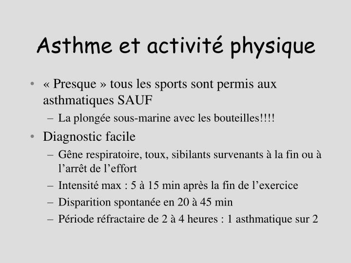 Asthme et activité physique