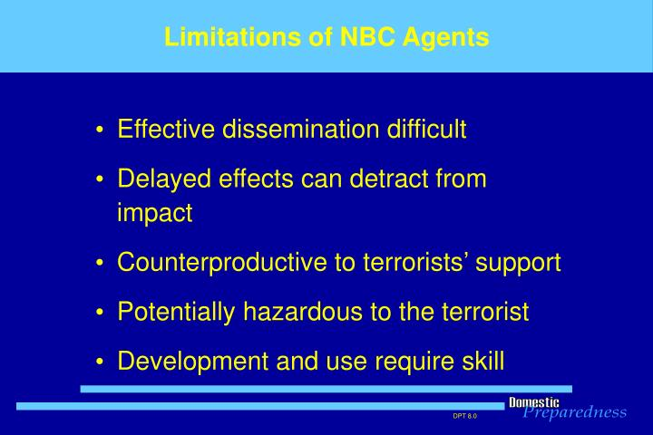 Limitations of NBC Agents