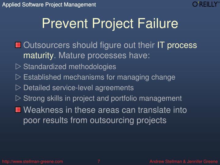 Prevent Project Failure