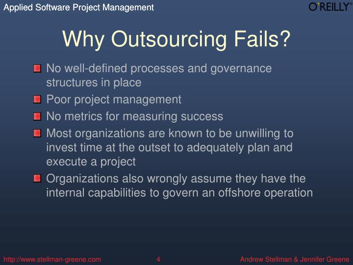 Why Outsourcing Fails?