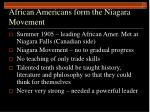 african americans form the niagara movement