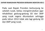 safari ramadhan presiden bersama menteri kib 2