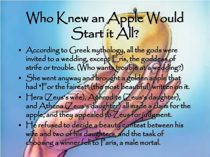 Who Knew an Apple Would Start it All?