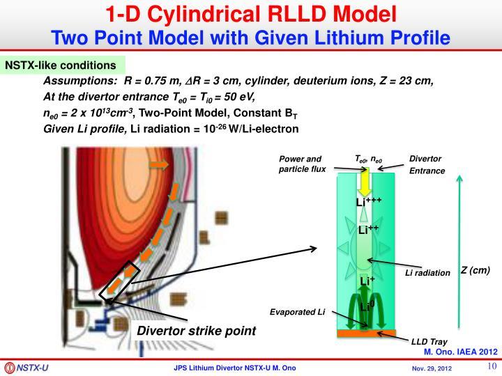 1-D Cylindrical RLLD Model