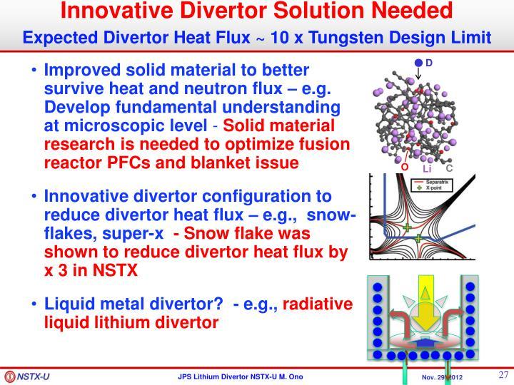 Innovative Divertor Solution Needed