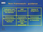 new framework guidance