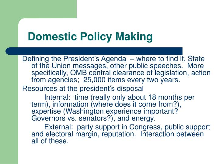 Ppt Domestic Policy Making Powerpoint Presentation Id4785005