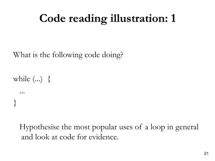 Code reading illustration: 1