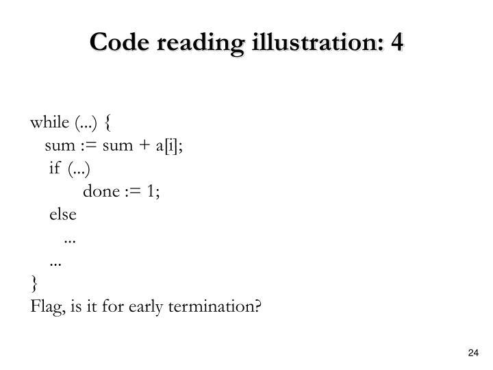 Code reading illustration: 4
