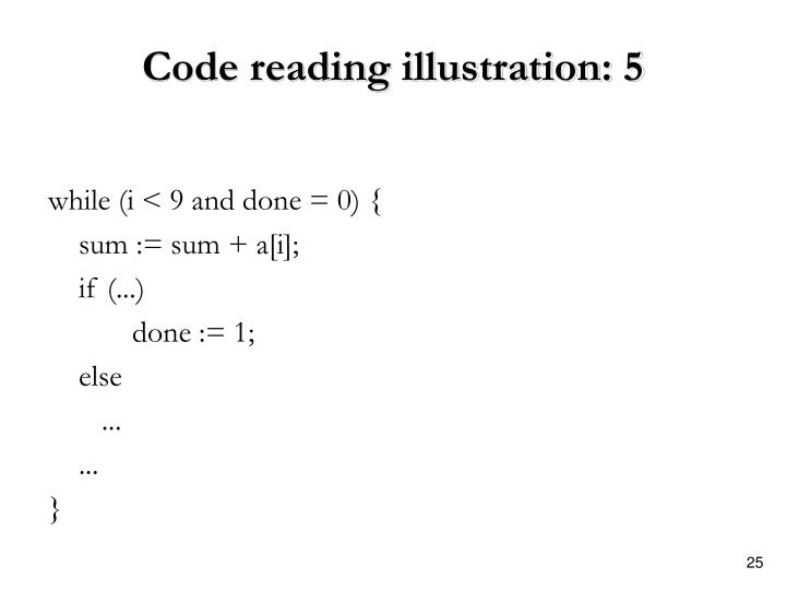 Code reading illustration: 5