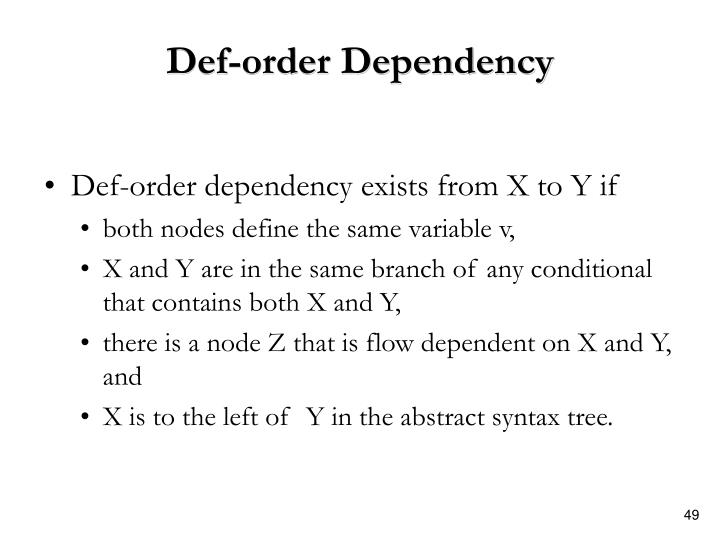Def-order Dependency