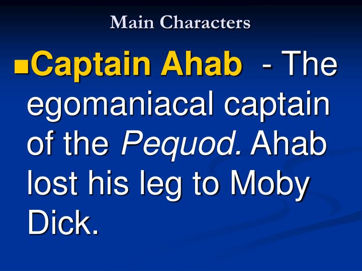 main character of moby dick