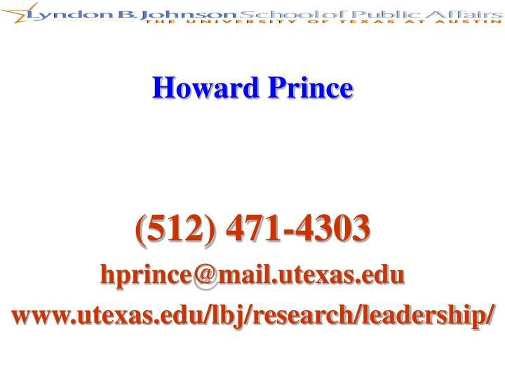 Howard Prince