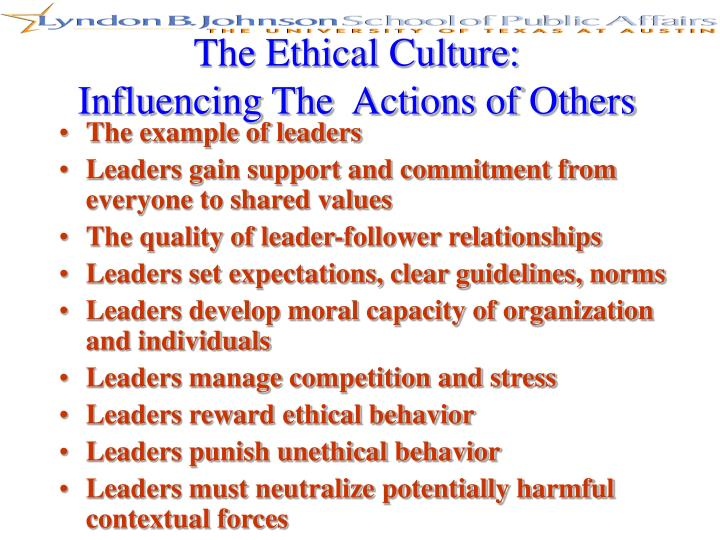 The Ethical Culture:
