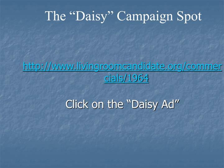 "The ""Daisy"" Campaign Spot"