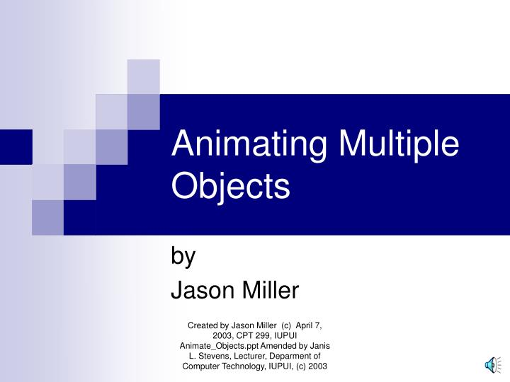 animating multiple objects n.