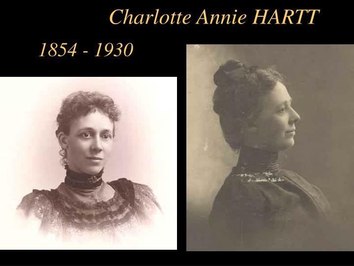 Charlotte Annie HARTT