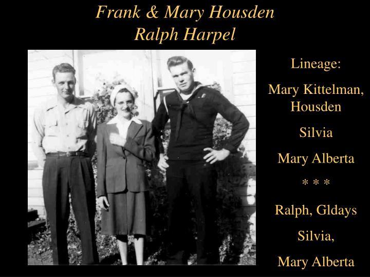 Frank & Mary Housden