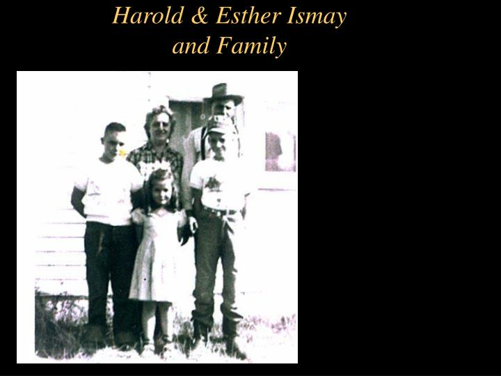 Harold & Esther Ismay