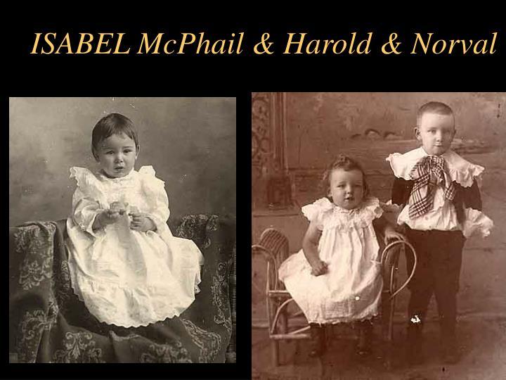 ISABEL McPhail & Harold & Norval