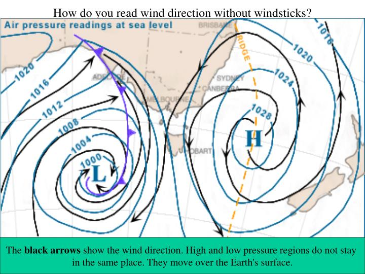 How do you read wind direction without windsticks?