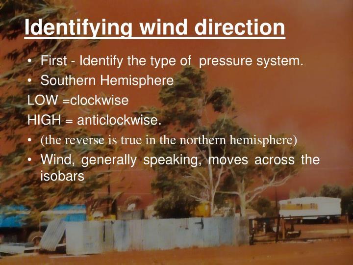 Identifying wind direction