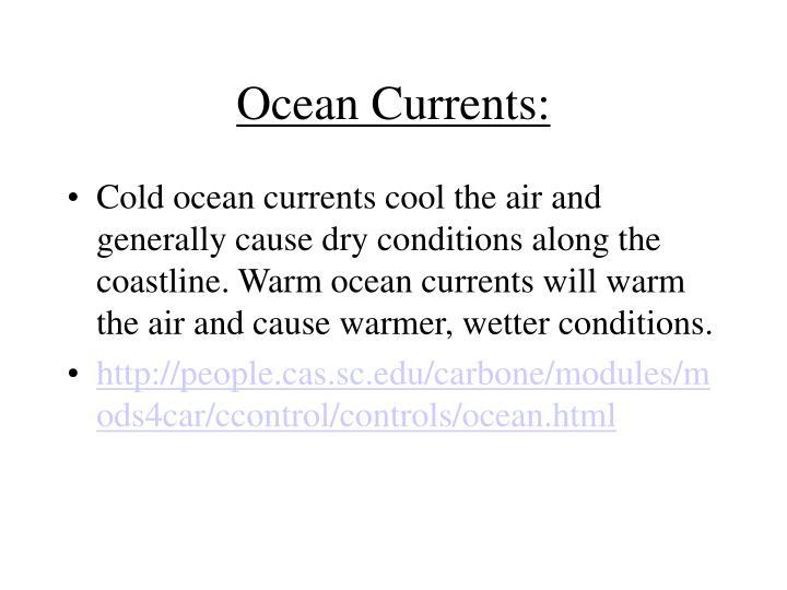 Ocean Currents: