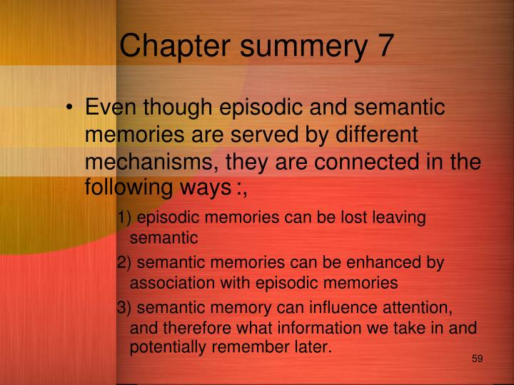 Chapter summery 7