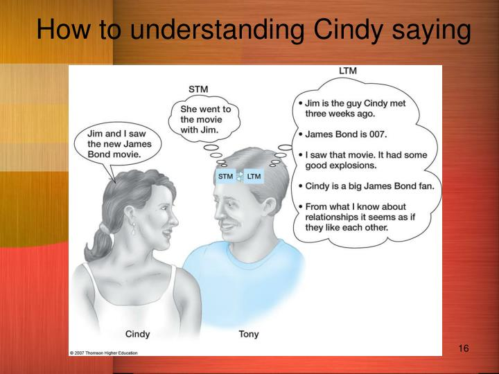 How to understanding Cindy saying