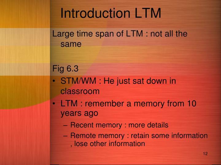 Introduction LTM