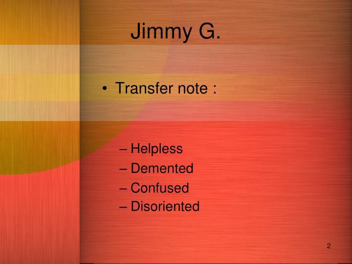 Jimmy g