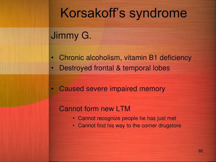 Korsakoff's syndrome