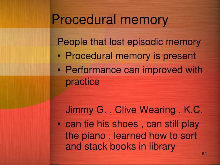 Procedural memory
