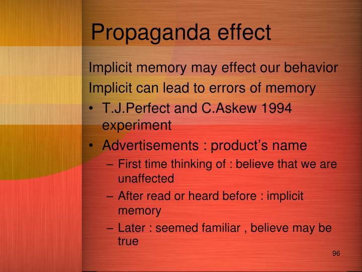Propaganda effect