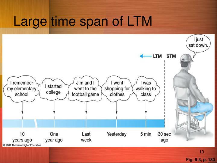 Large time span of LTM