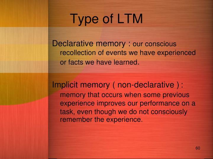 Type of LTM