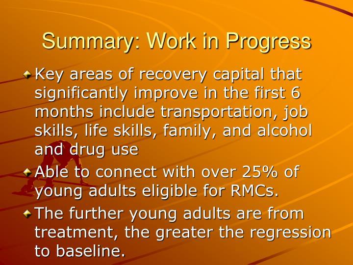 Summary: Work in Progress