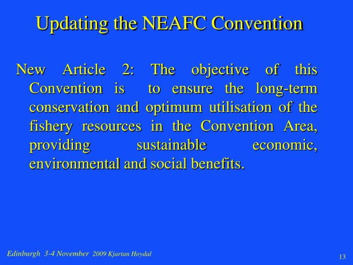 Updating the NEAFC Convention